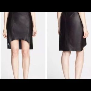 Trouve Leather Hi-Lo Skirt